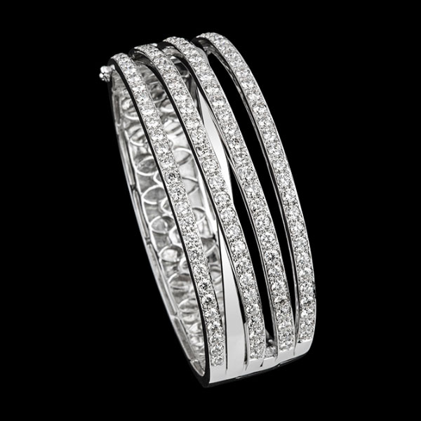 Boutique jewellery Spira diamond four strand bangle