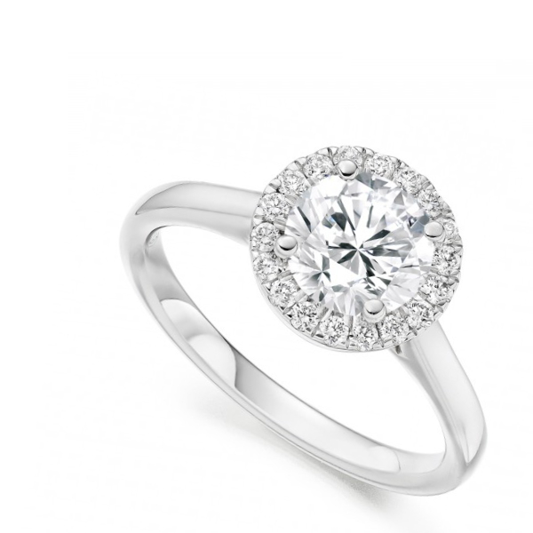 Round brilliant white gold engagement ring