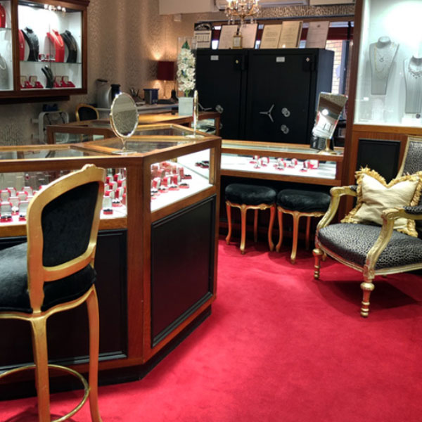 S.P.Green Jewellers Birmingham 11 Warstone Mews showroom interior